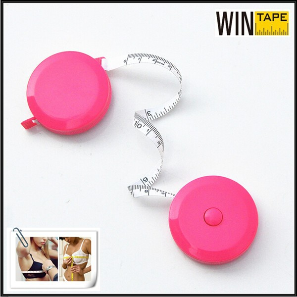 Best Seller - Pink Fashionable Customized Scalable Mini Measuring Tapes of Bra Size
