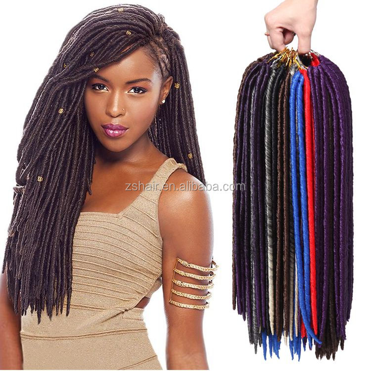 Factory Price Janet Collection 1B Off black Crochet Faux Locs Braiding Hair