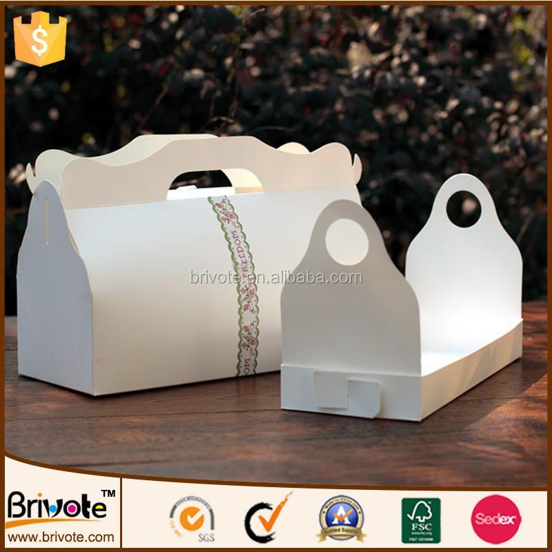 Kuchentransportbox Weiß: Weiß Tortenschachtel Freie Gestaltung Kuchen Transportbox