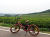 beach cruiser electric bike with roof design for lady electric pit bike