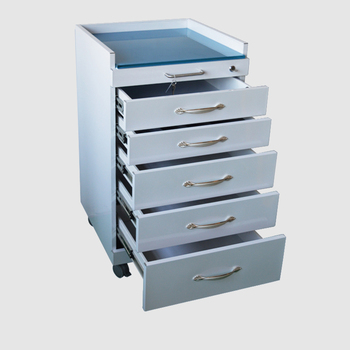 Mobile Locking Steel Storage Dental Cabinet With Castors 6 Drawers