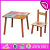 Best student desk and chair for kids,wooden toy student desk and chair for children,study student desk and chair set WJ278052
