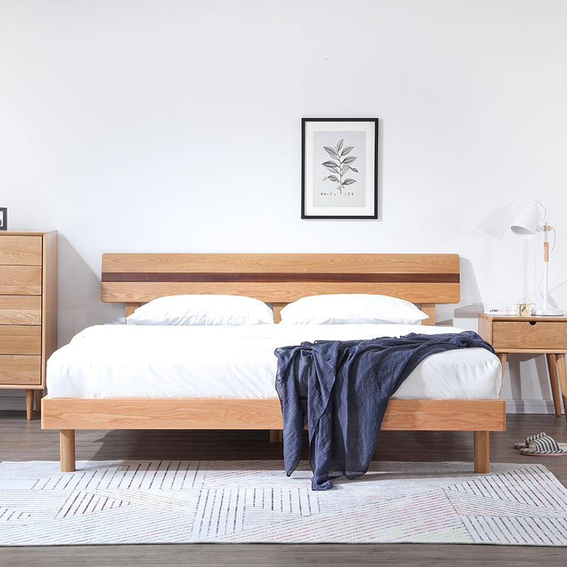 Hot Sale Apartment Bedroom Furniture Set Nordic Modern Design Solid Wood  Queen Size Bed For Home - Buy Modern Solid Wood Bed,Bedroom Furniture ...