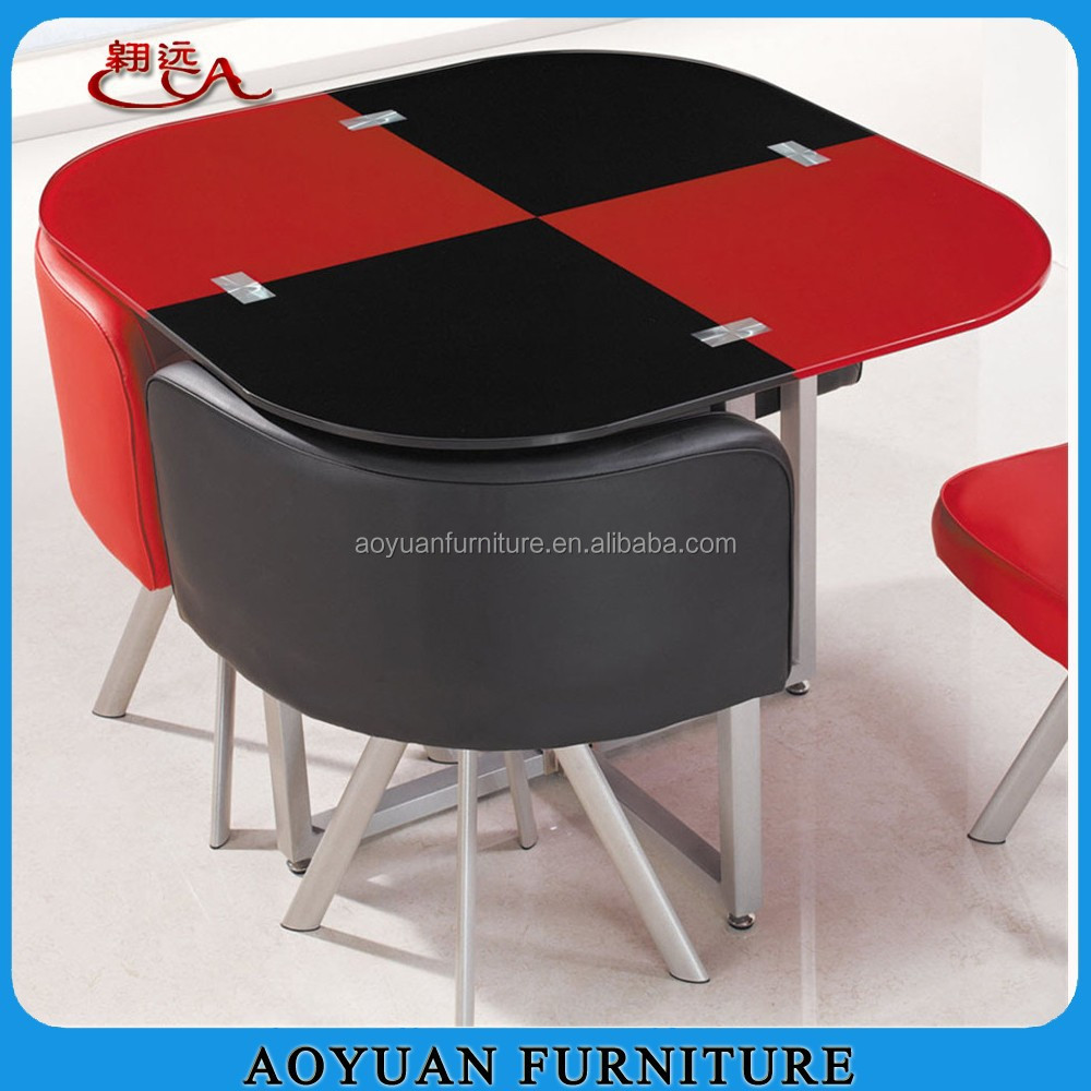 C263 4 Seater Black And Red Tempered Glass Square Dining Table Buy Square Dining Table Product On Alibaba Com