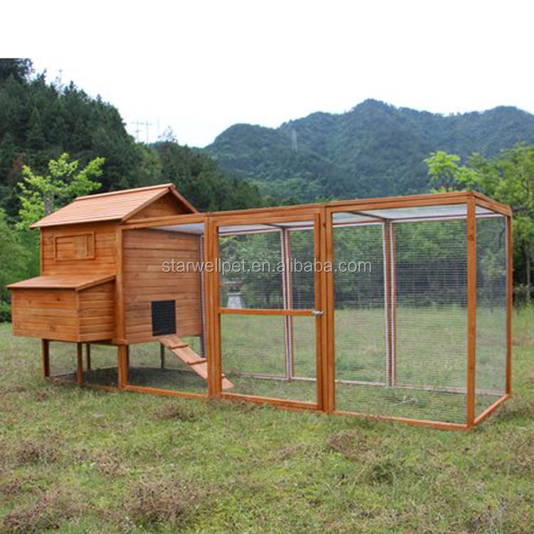 Exportaci n fabricaci n directamente barato gallinero de madera con gran carrera para gallinas - Casas para gallinas ...
