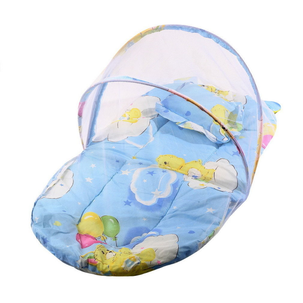 Crib Netting Hot Sale Baby Mosquito Net Bed Net Can Cotton-padded Mattress Pillow Tent Foldable Portable