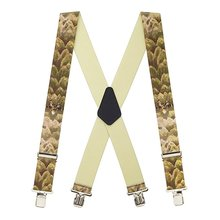 Free sample factory direct price Fashion pu leather suspenders for trousers for women or for men