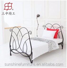Eenpersoonsbed Te Koop.2016 Smeedijzeren Bed Hot Koop Metalen Bed Goedkope Metalen
