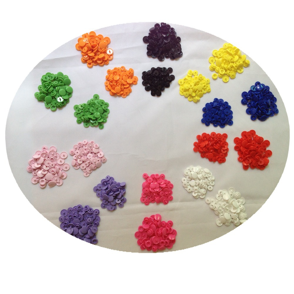 300 Set 10 Colors T5 20 12mm,T3 10mm  KAM Snaps Plastic Resin Press Poppers Snap Button Fasteners HD086