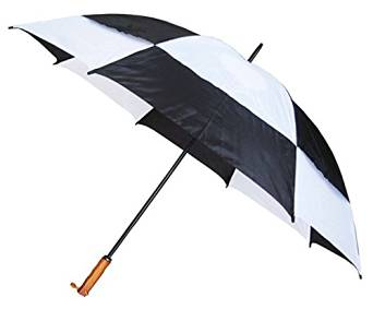 Conch Umbrellas 7862Black 60 in. Jumbo Golf Double Canopy Windproof Umbrella