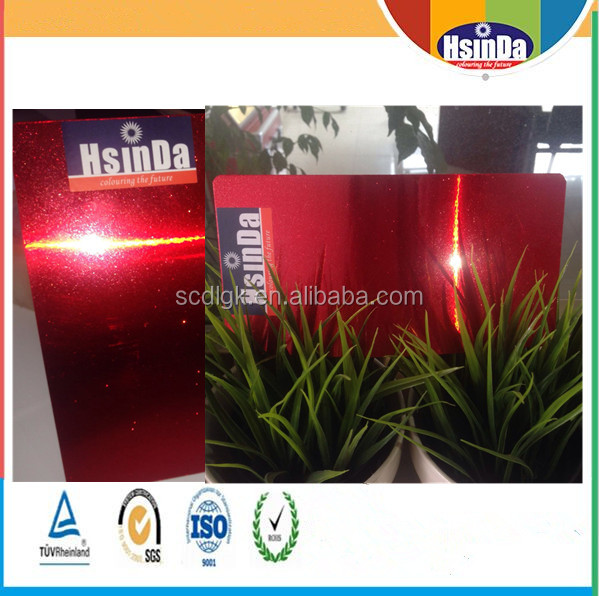 Electrostatic thermosetting Metallic red shining glossy powder coating