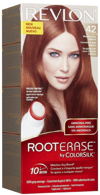 Buy Revlon Root Erase By Colorsilk Permanent Hair Color 42 Auburn 1