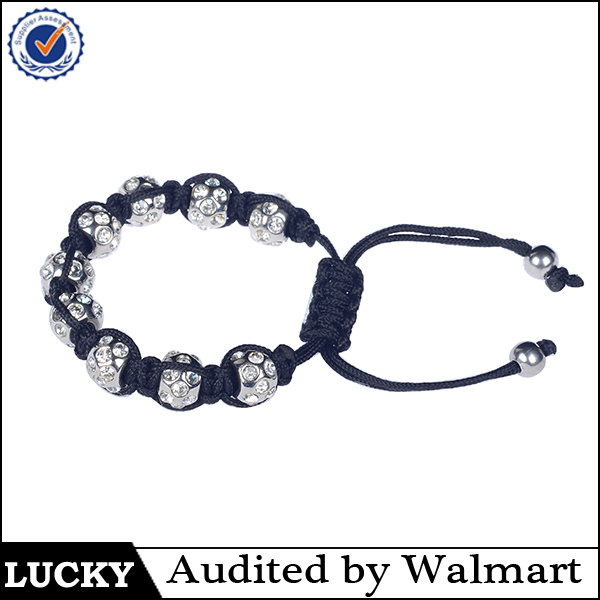 Hot Sale fashion crystal knot bracelet with beads