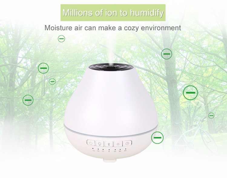 200ml Remote Control Essential Oil Diffuser, 500ml Ultrasonic Aroma Cool Mist Humidifier with 7 Color Light Changing And 4 Timer