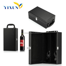 High quality Custom luxury leather wine carrier gift box for whisky