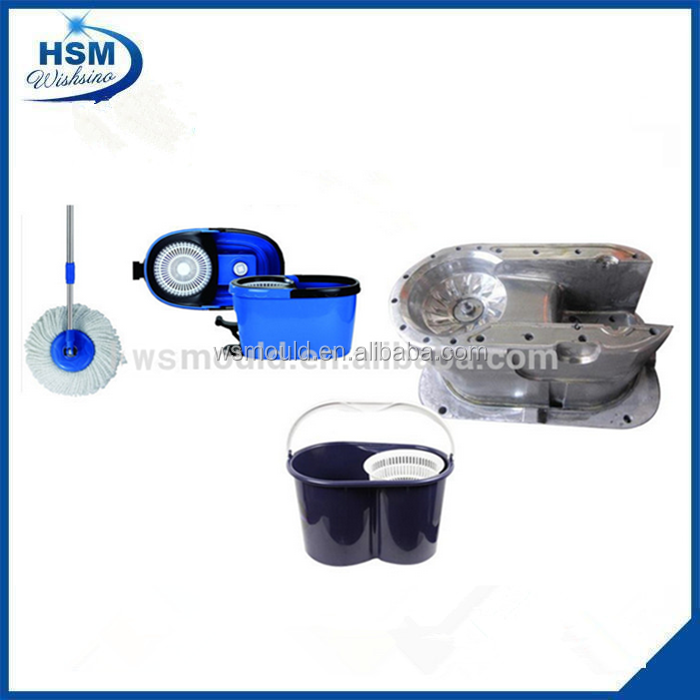 Plastic Injection Magic Mop And Bucket With Wheels Plastic Mould, Magic 360 Degree Spin Mop Mould