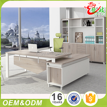 China Factory Price Simple Latest Design Small Unique Executive Office Desk  Modern Manager Table Office Furniture
