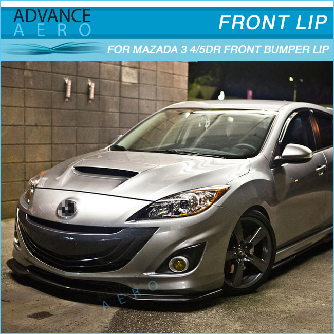 For 10 11 Mazda 3 Poly Urethane Jdm Style Pu Lip Diffuser - Buy For