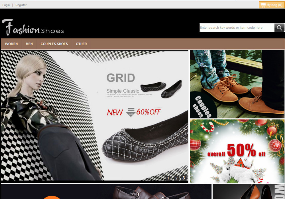 Fashion Brand Shoes Clothing Apparel Website Design Online Store ...