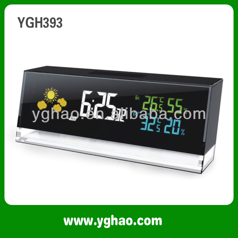 Ygh393 Digital Weather Station With Dynamic Color Display