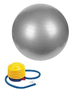 "Golds gym. 65cm. Body exercise ball. Instructions. Pump. 5'3"" to."