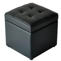 BA005 genuine leather storage ottoman/faux leather folding storage ottoman/good quality storage ottoman
