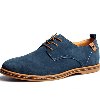 big size 38-48 men leather shoes men comfortable hot sell casual shoes  suede shoes 9728e747562b
