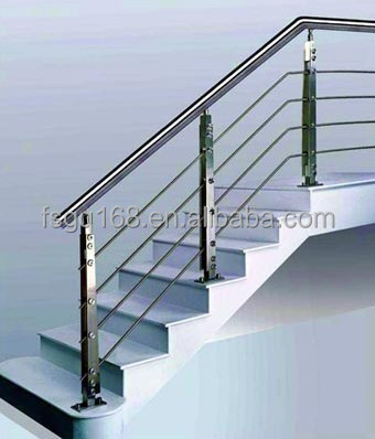 garden stair railing with stainless steel railing