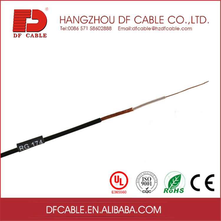 TV,SECURITYRG174 COAXIAL CABLE WITH RF CONNECTOR FOR