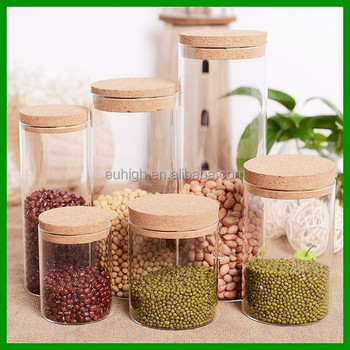 Dry Fruits Glass Food Storage Jar With Cork Lid Buy Dry Fruits