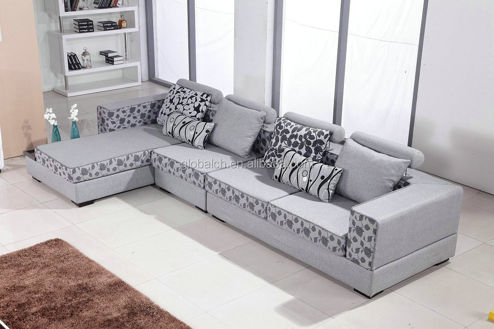 New L Shape Design Fabric Sofa