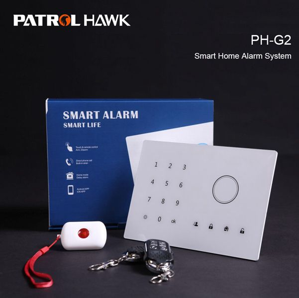 On Sale! Multi-function GSM Burglar Alarm With Touch Pad & Panic Button For Elderly/Kids PH-G2
