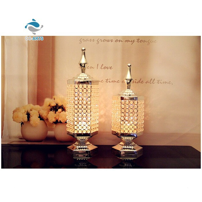 Wholesale Clear Table Decoration Home Goods Crystal Candle