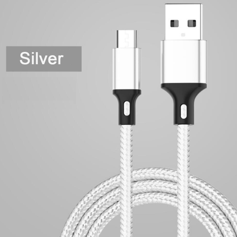 type c cable quick charge 3.0 nylon braided micro usb cable charger for samsung
