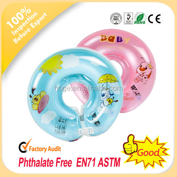 Hot sale safe inflatable infant swim neck float ring