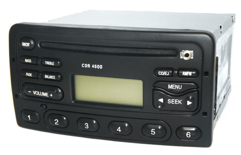Mercury Cougar 99-02 AM FM CD Player Aux Input Car Radio CDR 4600 F82F-18C815-BA