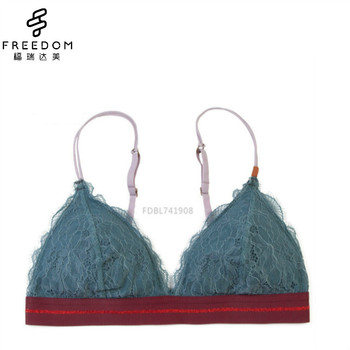 2a08215084 Perfect Color Match Denim Blue Lace Triangle Bralette - Buy Triangle ...