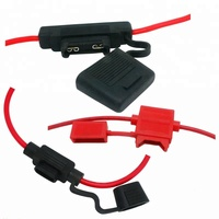 Car In-Line waterproof auto universal Fuse Holder with auto fuse 1A-40A