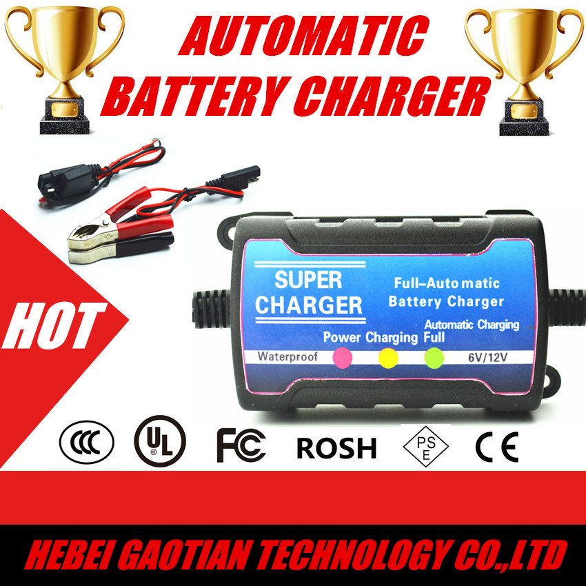 Automatic Motorcycle battery charger 12V Car battery charger maintainer float charger 6V/12V 750mA