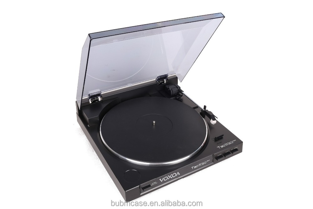 BLACK VOXOA DJ T30 dj equipment direct drive detachable head shell Turntable with Direct Drive DJ vinyl turntable