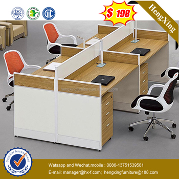 Modern Wooden Office Use Furniture Office Workstation Table (HX 6M201)