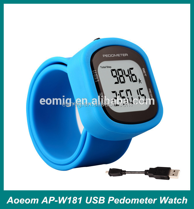 AOEOM 3 D pedometer bracelet watch