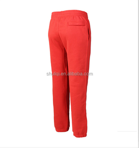 Extremely fitted 360grams 65%cotton/35%poly zip jogger pants,polar fleece pants