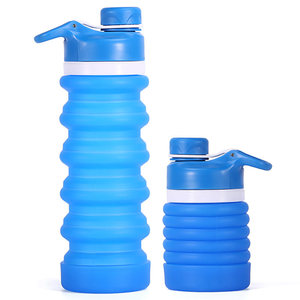 2018 New Products Leakproof Collapsible Silicone Private Label Water Bottle 750ML Wholesale