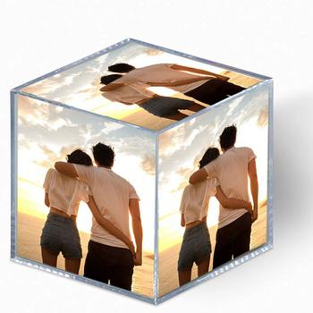 Hot Sale Large Acrylic Photo Cube Block Frame For Car Dashboard ...