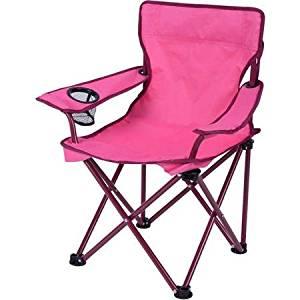 Ozark Trail Kids' Folding Camp Chair Folds For Storage, Pink