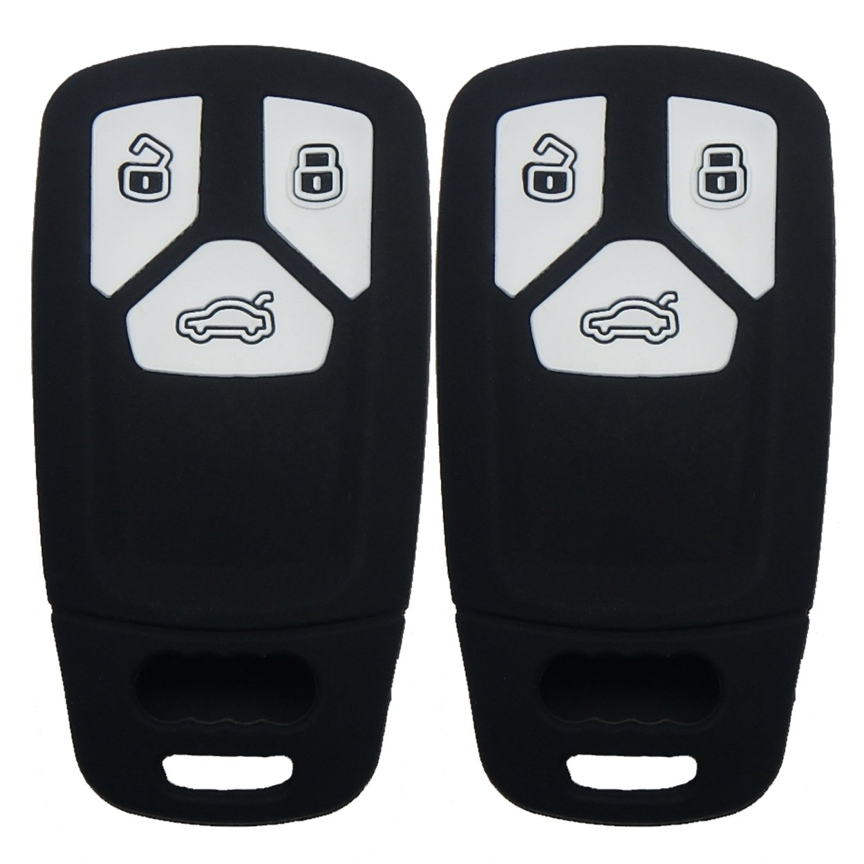 Insert Key to Ignition NOT FIT Coolbestda Leather 4button Smart Key Fob Remote Cover Case Keyless Entry Protector Skin Jacket for Audi A1 A3 A4 A5 A6 A7 A8 Q5 Q7 R8 S5 S7 Q5 RS