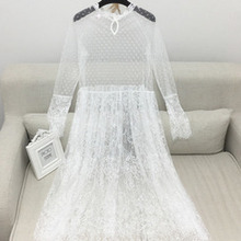 bd4070393d1f8 Buy korean white lace dress and get free shipping on AliExpress.com