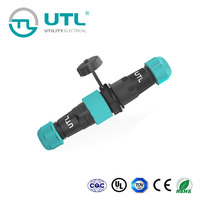 UTL UAC Electrical Ip68 Waterproof Male Female Cable Connector