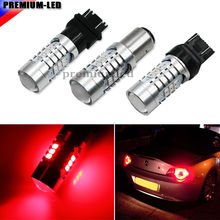 Brilliant Red Strobe Flashing W21/5W 7443 7444 T20 1157 BA15D 3157 T25 SRCK LED Replacement Bulbs For Car Brake/Tail Lights